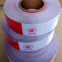 Wholesale 50M Roll Car reflective posted White Red m cm Hazard Warning Tape
