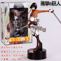Wholesale Attack on Titan Mikasa Ackerman PVC Action Figure Toys Approximately CM