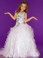 Wholesale CONTRASTING WHITE SUGAR WINNING ONE SHOULDER PAGEANT GOWN