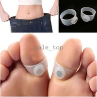 Wholesale Slimming Silicone Foot Massage Magnetic Toe Ring Care Fat Weight Loss Health tool