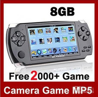 "4.3 inch No 4GB 4.3"" LCD Game Console PMP MP4 MP5 Player 8GB Free 2000+ games Media Player AV-Out FM with Camera"