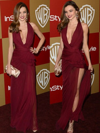 Wholesale th Golden Globe awards Red Carpet Celebrity Dresses Miranda Kerr Party Sexy Zuhair Murad High Side Slit Prom Gown