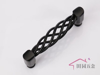 Wholesale 96mm Black iron birdcage drawer pull furniture kitchen cabinet handle European design C mm L mm