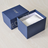Wholesale Luxury Watch Box Nice Dack Blue Storage Case Display Box Free HK Post by foksy