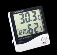 Wholesale NEW Digital LCD Temperature Humidity Meter Tester Hygrometer Thermometer Clock
