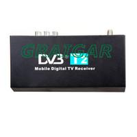Cheap FREE SHIPPIN HOT SALE !40km h speed maximum high Speed H.264 MPEG4 Mobile Digital Car DVB-T2 TV Receiver HDMI 1080P CVBS car dvb t2