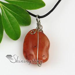 rose quartz jade agate rough natural semi precious stone necklaces pendants genuine stone jewelry Fashion jewellery Spsp2075FR0