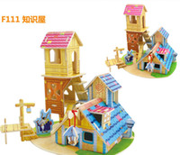 Wholesale 3D Jigsaw Puzzel Forest Cabin Design For Choose Year Old Kids Wooden Jigsaw Game Children Education Toys Baby Intelligence Wooden Toys