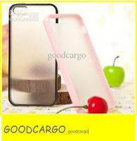 Caja helada transparente del color del caramelo de la contraportada de la piel de la PC de la PC TPU + PC para la calidad AAA +++ de iphone5 5g