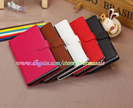 Wholesale Luxury Book style Litchi skin Wallet Leather cover Credit card slots case cases stand Holder pouch for Sony Xperia Z Ultra XL39H