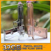USB 2.0 key shape usb flash drive - Pistol shape GB USB Flash Drive Stick Creative U Disk G Flash Memory Pen Drive Key Hot G032I