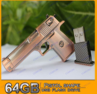 Wholesale Pistol shape GB USB Flash Drive Stick Creative U Disk G Flash Memory Pen Drive Key Hot M088J