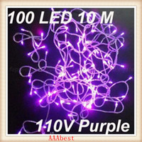 Wholesale 10M LED Light String LEDs V V Purple Light Party Light With Tail Plug Christmas Ornaments