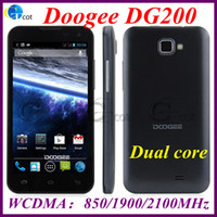 Wholesale android phone Doogee DG200 MTK6577 Dual Core inch Smartphone FWVGA Capacitive Screen ROM GB MP Android4 OS G GPS WCDMA mhz