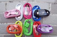 Wholesale 10 colors Micro usb cable Data sync Charger cable for samsung S4 Samsung s3 HtC Android mobile