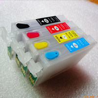 Wholesale 4PC Refillable T1351 T1332 T1333 T1334 Ink Cartridge With Chip For Epson Stylus T25 TX123 TX125 TX133 TX135