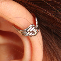 Wholesale Stud Earrings Wings Shape Hot Punk Style Gold amp Silver Fashion Jewelry Unisex Earrings Clip on amp Screw Back