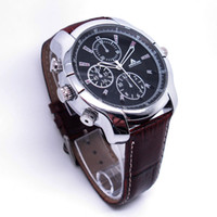 Wholesale On Sale Newest style leather strap GB p hd Hidden watch camera dvr Recorder IR Night vision SPY Video