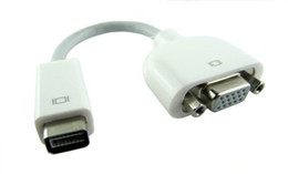 Wholesale Mini DVI to VGA Monitor adapter cable for Apple MacBook Pro Powerbook G4 Calif