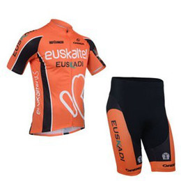 2013 EUSKADI TEAM ORANGE Short Sleeve Cycling Jersey Bike Bicycle Wear + Shorts KIT Size XS-4XL