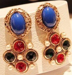 Sexy star earrings Fashion Diamond Cute Earrings charm lovely earring fashion jewelry earrings wedding earrings free shipping