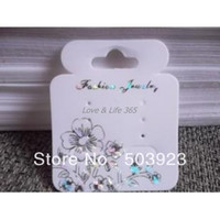 Wholesale Fashion White Plastic Custom With Flower Printed Card Fit For Ring And Bracelet Packing
