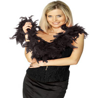 Wholesale Chandelle Feather Dress Accessory Black Feather Boa Party Costume Boas Feather Boa Scarf Feather Boa Scarf Wrap Burlesque Can Can Saloon