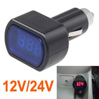 Wholesale Piece New Digital Mini LED V V Car Vehicle System Voltmeter Voltage Gauge Volt Meter
