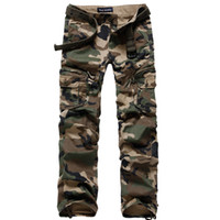100% Cotton army dance costume - Men Military Clothing Mens Camouflage Army Cargo Pants Women Harem Hip Hop Baggy Pants Dance Costume Girls Straight Regular Fit Combat Trous