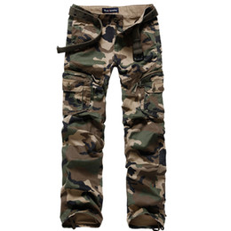 Wholesale Men Clothing Camo Army Cargo Pants Women Harem Hip Hop Sweat Pants Dance Costume Girls Wide Leg Loose Combat Trousers Unisex