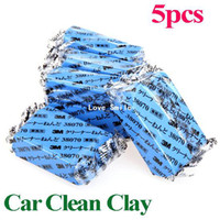 0 1 Sponges, Cloths & Brushes 5Pcs set Free Shipping Magic Car Truck Auto Vehicle Bar Clean Clay 180g Cleaning Soap Detailing Cleaner