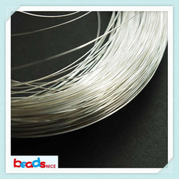 Wholesale Beadsnice gauge sterling silver round half hard wire silver wire wrapping wire beading jewelry ID