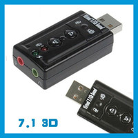 Wholesale Lots200 Brand New Black Qaulity USB External Channel D Virtual Audio Sound Card Adapter