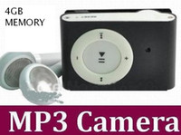 Wholesale 4GB spy mp3 camera mini Hidden spy mini DV DVR Video mini Clip Mp3 Camera CCD Camcorder clip mp3 camera hidden camera mp3