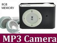 Wholesale Best quality hidden mp3 camera with gb memory spy mini DV DVR Video mini Clip Mp3 Camera CCD Camcorder clip mp3 camera hidden camera mp3