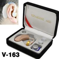 Wholesale Mini Convenient Hearing Aid Aids Sound Amplifier Ear Voice Receiver V Ear Sound Voice Amplifier Newest