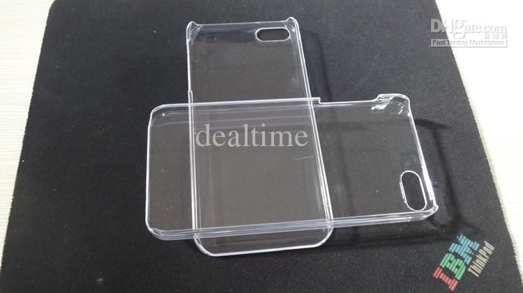 Buy DHL FREE Hard Plastic Clear crystal transparent cover case iphone 4 4G 4S 5