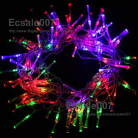 Wholesale Fashion New mode LED Optical Fiber String Lamp Light m for Christmas Halloween Decoration Garden Party Wedding Multi color