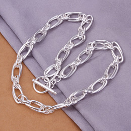 55.4g Men's Jewelry 925 sterling silver 18'' chains Torques chokers necklace n339 gift box free shipping