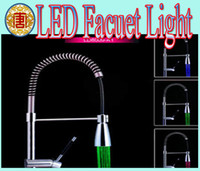 kitchen faucet spray - Newnest LED faucet Kitchen Pull Out Spray Mixer Tap Polished Chrome solid brass