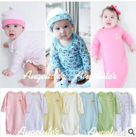 Cheap Baby Pajamas baby nightwear 3pcs Pajamas + Hats + Sleeping bags baby nightwear pajamas sleeping bags baby clothing