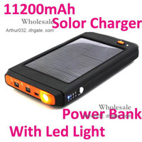 0-20 W For Cell Phone No 11200mAh Portable Solar Battery Panel Charger Power Bank Charger With Flashlight For Laptop Camera Cell Phone PC MP3 Tablet Mobile Smart