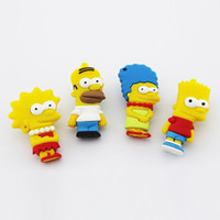 Wholesale The Simpsons Homer Simpson Shaped Real GB GB GB GB USB Flash Drive Memory Stick Key of gift box Utop2012