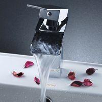 Chrome bathroom sink - Single Handle Chrome Waterfall Bathroom Sink Faucet