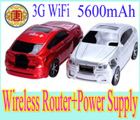 Wholesale Mini G WiFi Multi function wireless router with mAh mobile power supply car shape wireless router mAh power bank