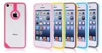 Wholesale New Age Bumper Ultrathin Case TPU PC Cover TAB LOGO Designed for iphone C Drop ship
