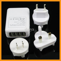 Direct Chargers Universal AC 100-240V 50/60Hz 15W max 3 In 1 USB AC Wall Charger US EU UK Plug Power Adapter 4 USB Port 2.1A Travel Charger For iPhone ipad Samsung Camera
