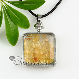square amethyst quartz necklaces pendants semiprecious stone jewelry Fashion jewelry necklace precious stones necklace Spsp2351GY0
