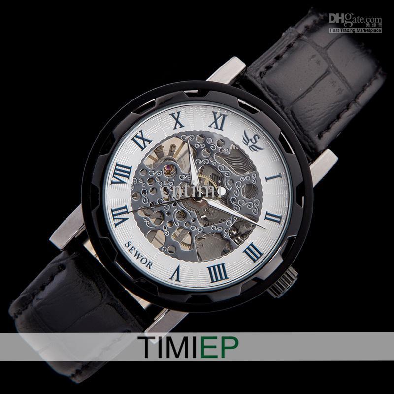 nice luxury mens automatic mechanical wrist watch black leather nice luxury mens automatic mechanical wrist watch black leather self winding watches men