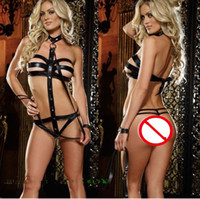 Wholesale Sex Products SM cosplay Bondage bound conjoined lingerie costumes nightclubs uniform bondage gear